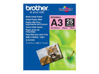 Brother BP - Matt - A3 (297 x 420 mm) - 145 g/m² - 25 ark papper - för Brother MFCJ6530, MFC-J6580, J6980, J6995, J6997; INKvestment Business Smart Pro MFC-J6935 BP60MA3